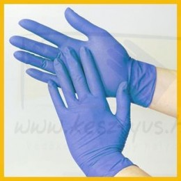 MAXTER NITRIL BLUE, kék, prémium minőségű, púdermentes nitril vizsgáló kesztyű