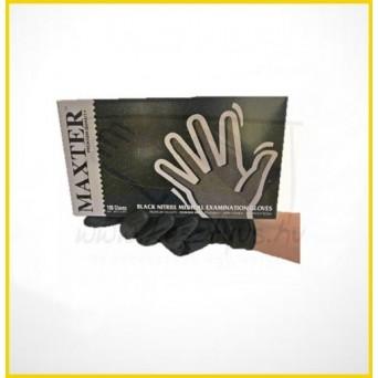 MAXTER BLACK NITRIL púdermentes fekete vizsgáló kesztyű