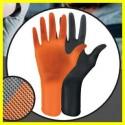 IDEALLGRIP narancsszínű, púdermentes, nitril anyagú, narancs színű, textúrált kesztyű (XS, S, M, L, XL)