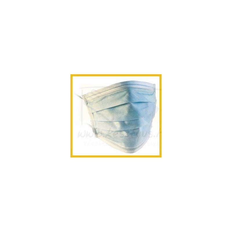 Háromrétegű papírmaszk, gumipánttal 50 db/ doboz