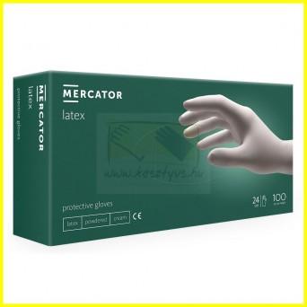 Mercator LATEX POWDERED prémium púderezett latex kesztyű /100db