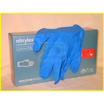 NITRYLEX CLASSIC A100, PRÉMIUM púdermentes nitril kék kesztyű
