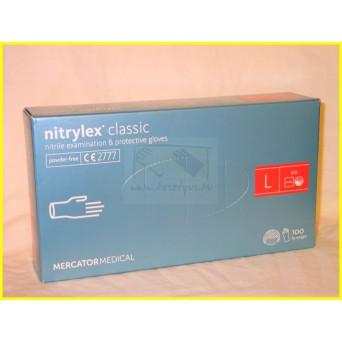 NITRYLEX CLASSIC BLUE, PRÉMIUM púdermentes nitril kék kesztyű