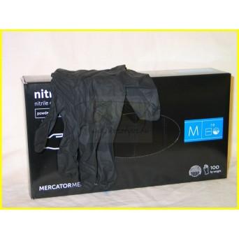 NITRYLEX BLACK PRÉMIUM púdermentes nitril fekete kesztyű /100db