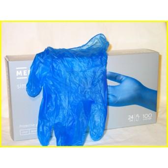 MERCATOR Simple Vinyl PF Blue, Púdermentes Vinylex kék púdermentes vinil kesztyű