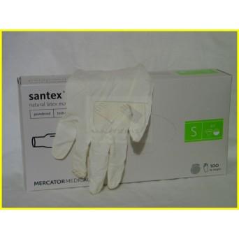 TEXTURÁLT SANTEX POWDERED Latex púderezett kesztyű /100 db
