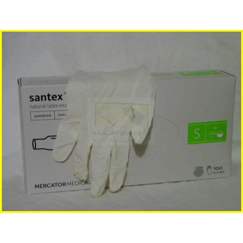 SANTEX POWDERED TEXT, texturált latex kesztyű 100 db