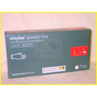 VINYLEX POWDER FREE, púdermentes fehér vinil kesztyű