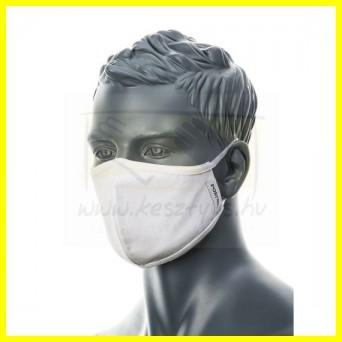 Portwest 2 rétegű, fehér anti-mikrobiális arcmaszk /1db