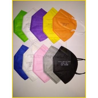 FFP2 MASZK Multicolor /Többszínű/10db