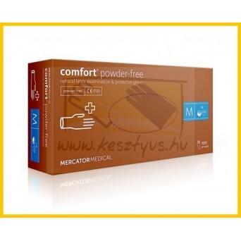 PÚDERMENTES COMFORT latex kesztyű /100db Powder free
