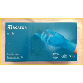 MERCATOR NITRILE PF BLUE, púdermentes nitril kesztyű/100db